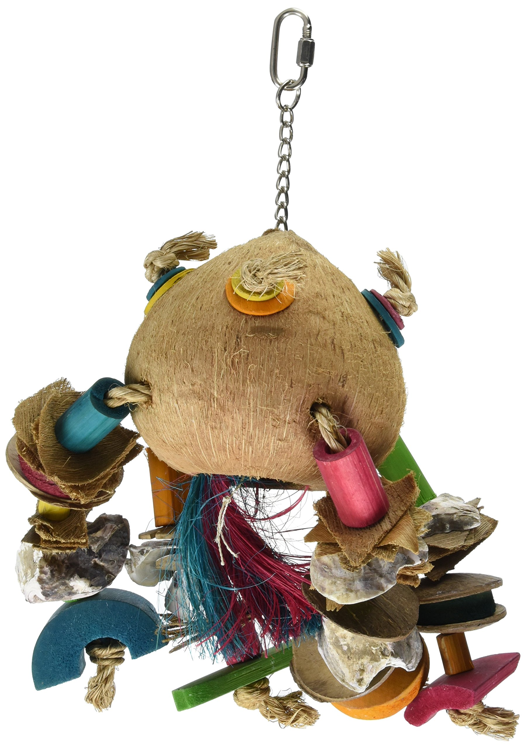 Planet Pleasures Coco Rocket Ship Natural Bird Toy