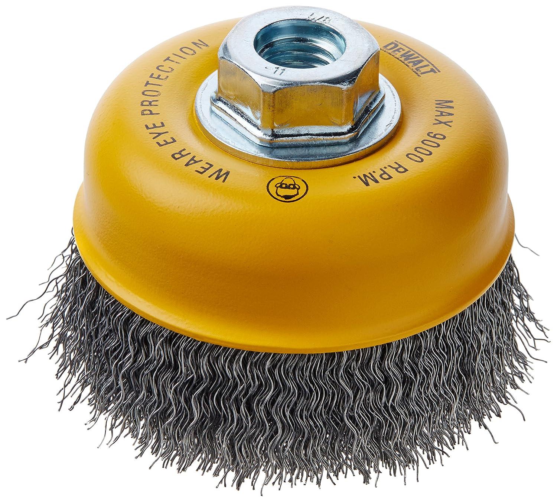 DEWALT DW49101 4-Inch by 5/8-Inch-11 HP .014 Carbon Crimp Wire Cup Brush