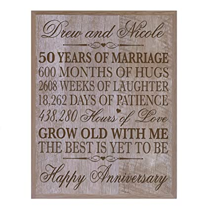 Amazon Lifesong Milestones Personalized 50th Wedding