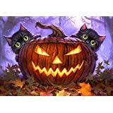 Halloween Decorations DIY 5D Diamond Painting by Number Kits Full Drill Rhinestone Pictures Painting Arts Craft for Home…
