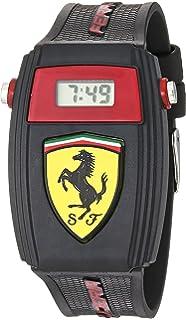 Scuderia Ferrari Quartz Watch with Silicone Strap, Black, 21 (Model: 0810012