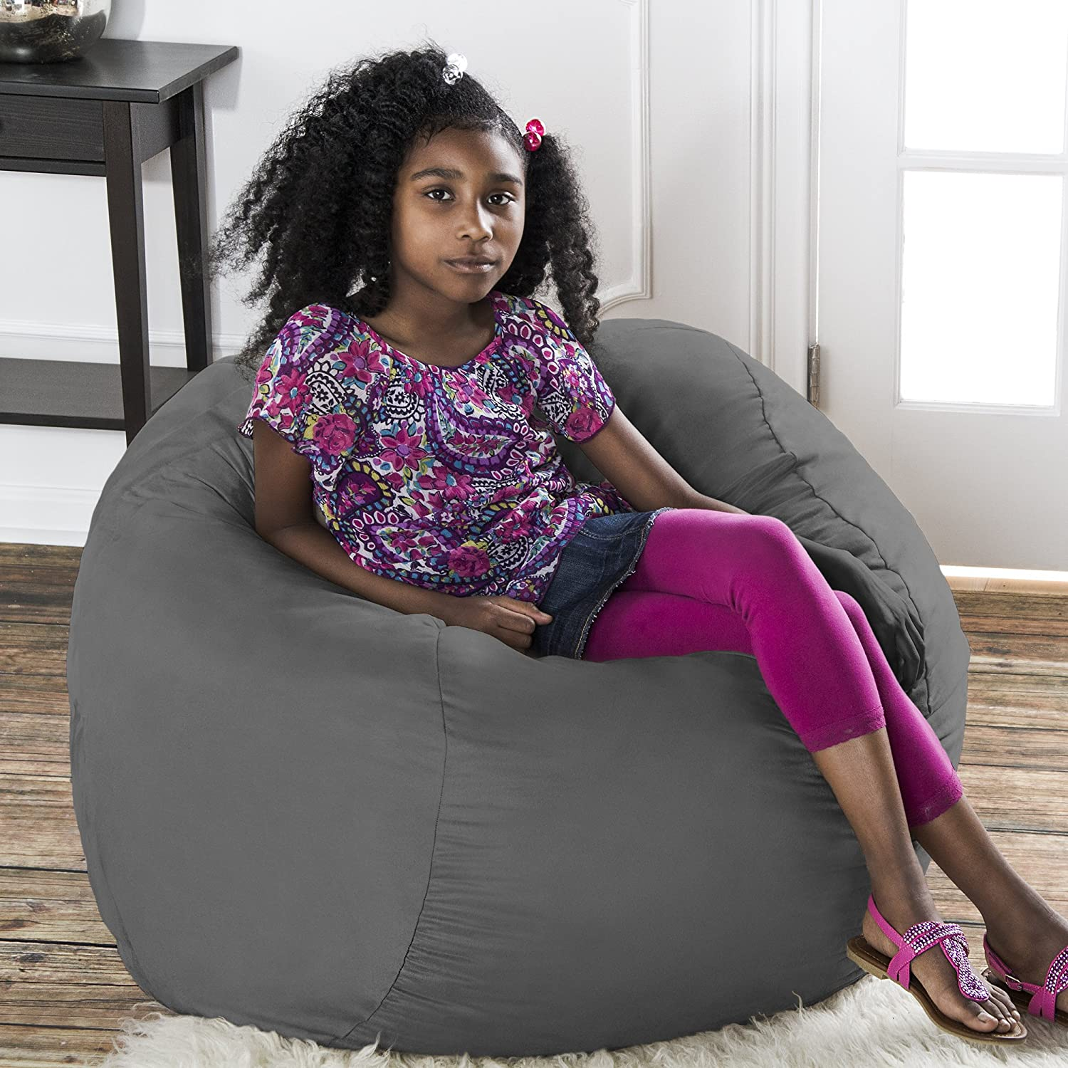 Amazon Jaxx Bean Bag Chair with Removable Cover 3 Charcoal