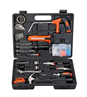 BLACK+DECKER BMT108C Hand Tool Kit (108-Piece) for Home DIY and Professional use