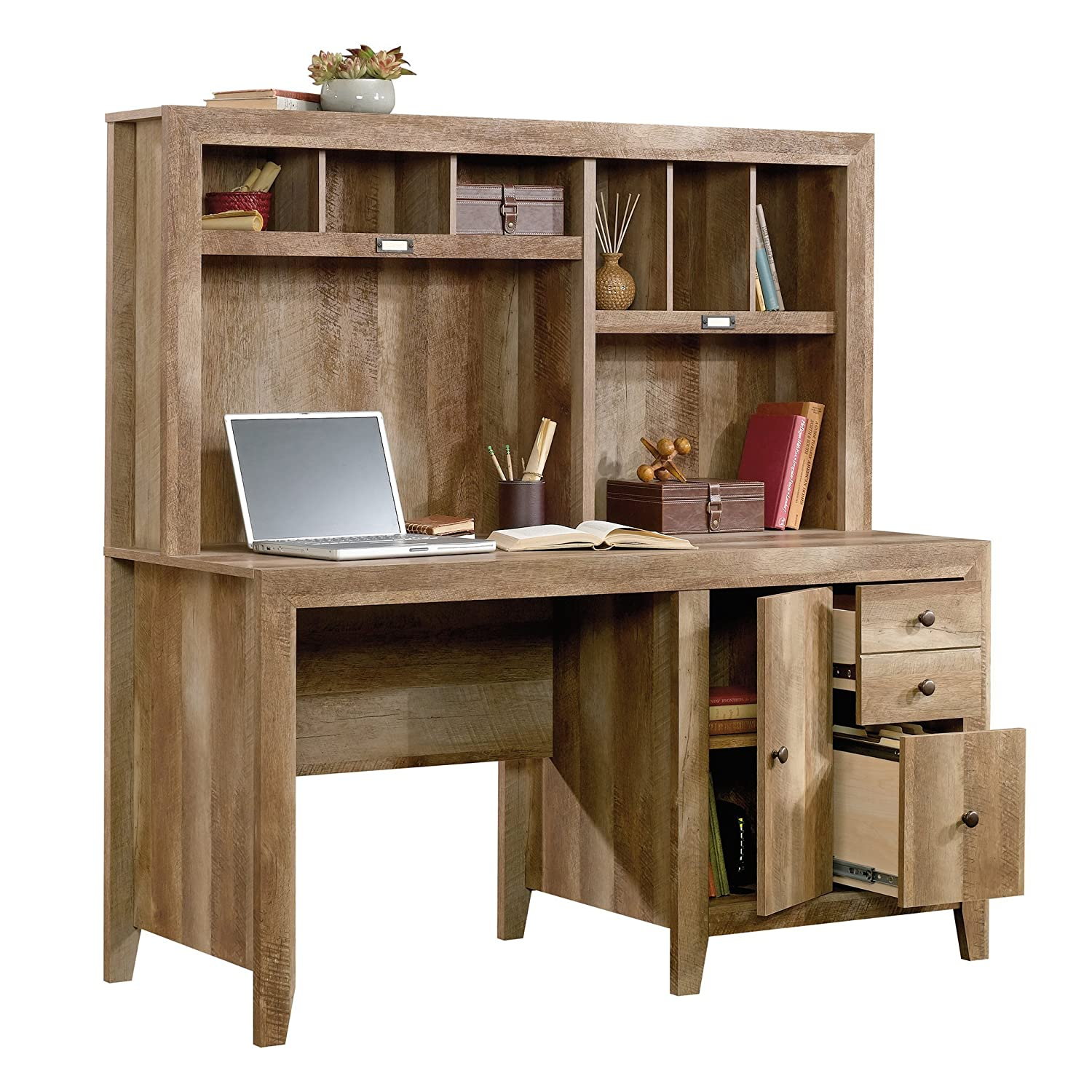 Bush Business Furniture Easy Office 60W Straight Desk Closed Office in Mocha Cherry