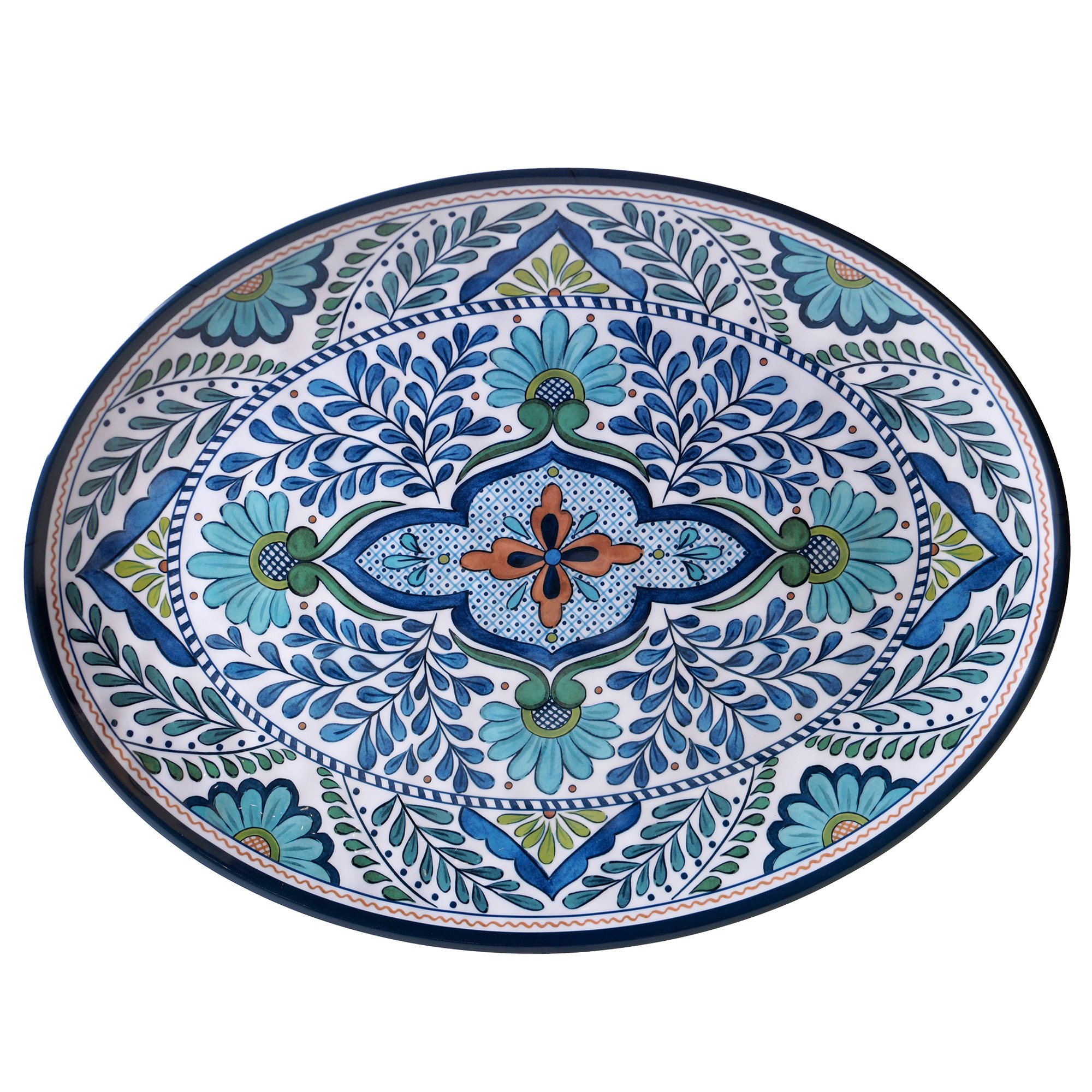 Certified International Talavera Melamine 18'' x 13.5'' Oval Platter, Multicolor