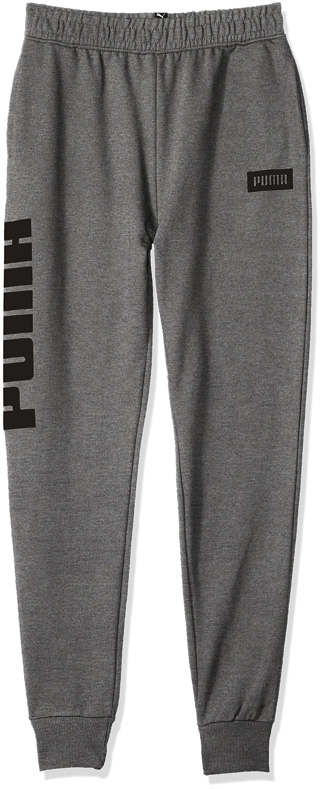 PUMA Toddler Boys' Rebel Joggers, Medium Heather Grey, 3T
