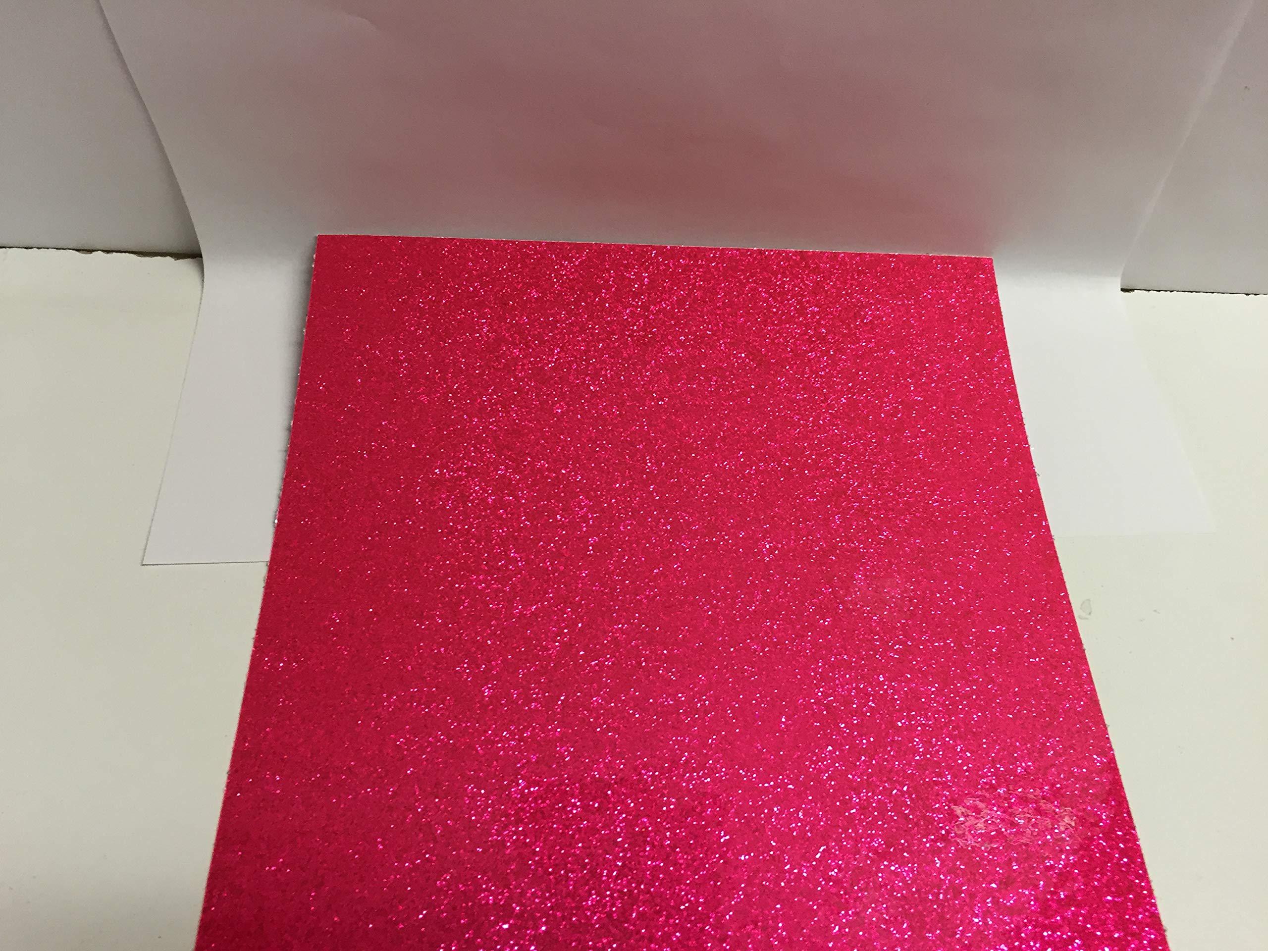 Roll of Glitter Flake Sign Vinyl (Fluorescent Pink, 12 inch x 10 ft)