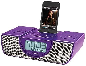 ihome clock radio with pillow shaker purple amazon co uk electronics rh amazon co uk ihome clock radio set time ihome clock