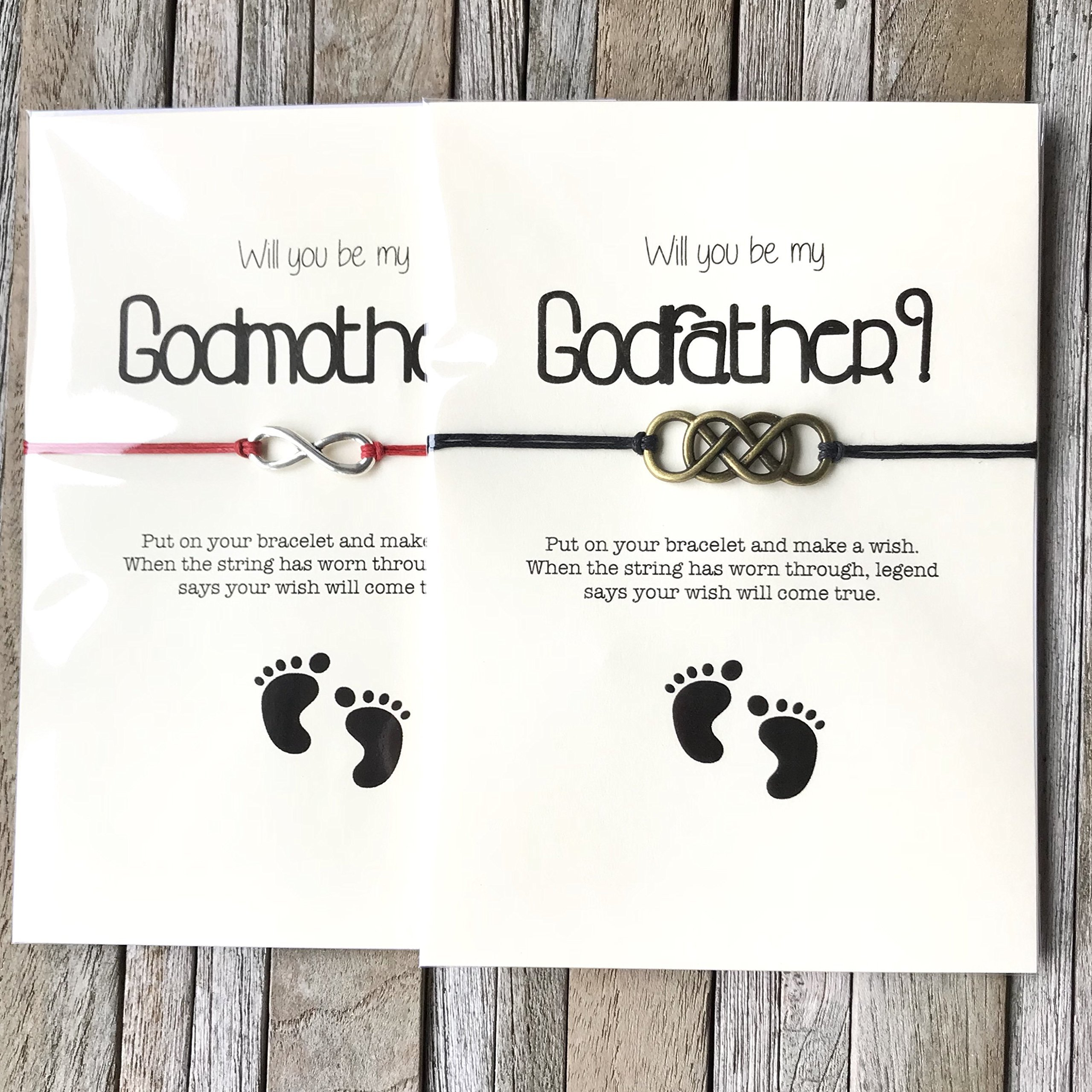 Will you be my godparents gift set of 2. Wil you be my Godmother or godmother proposal, Godmother and Godfather gifts, Madrina gifts