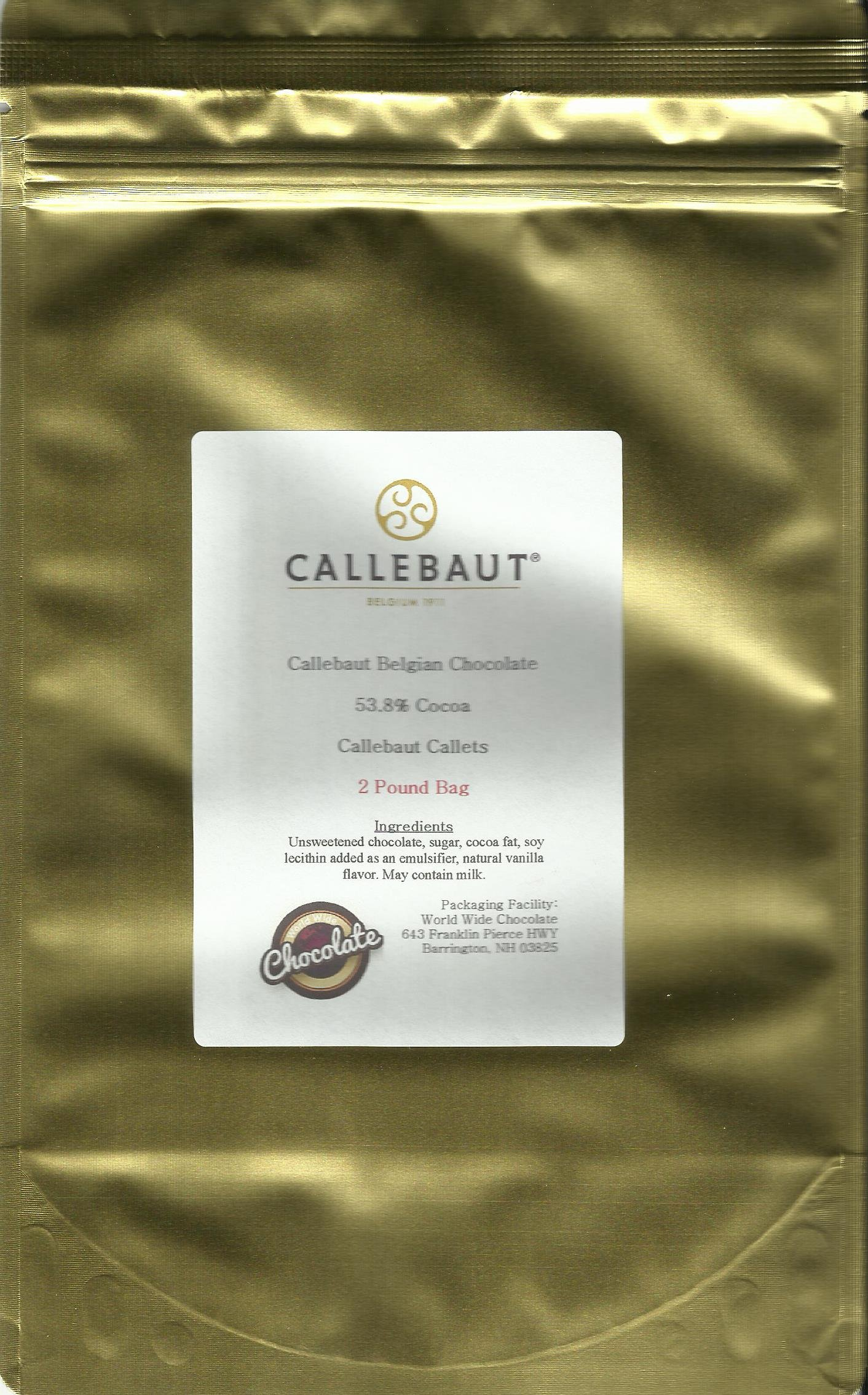 Callebaut Dark Callets 53.8 %  (2 lb)