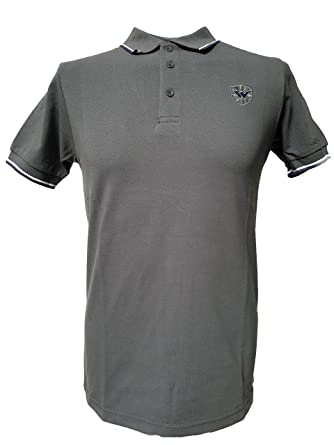Warrior England UK - Polo de piqué para Hombre, Color Gris - Gris ...