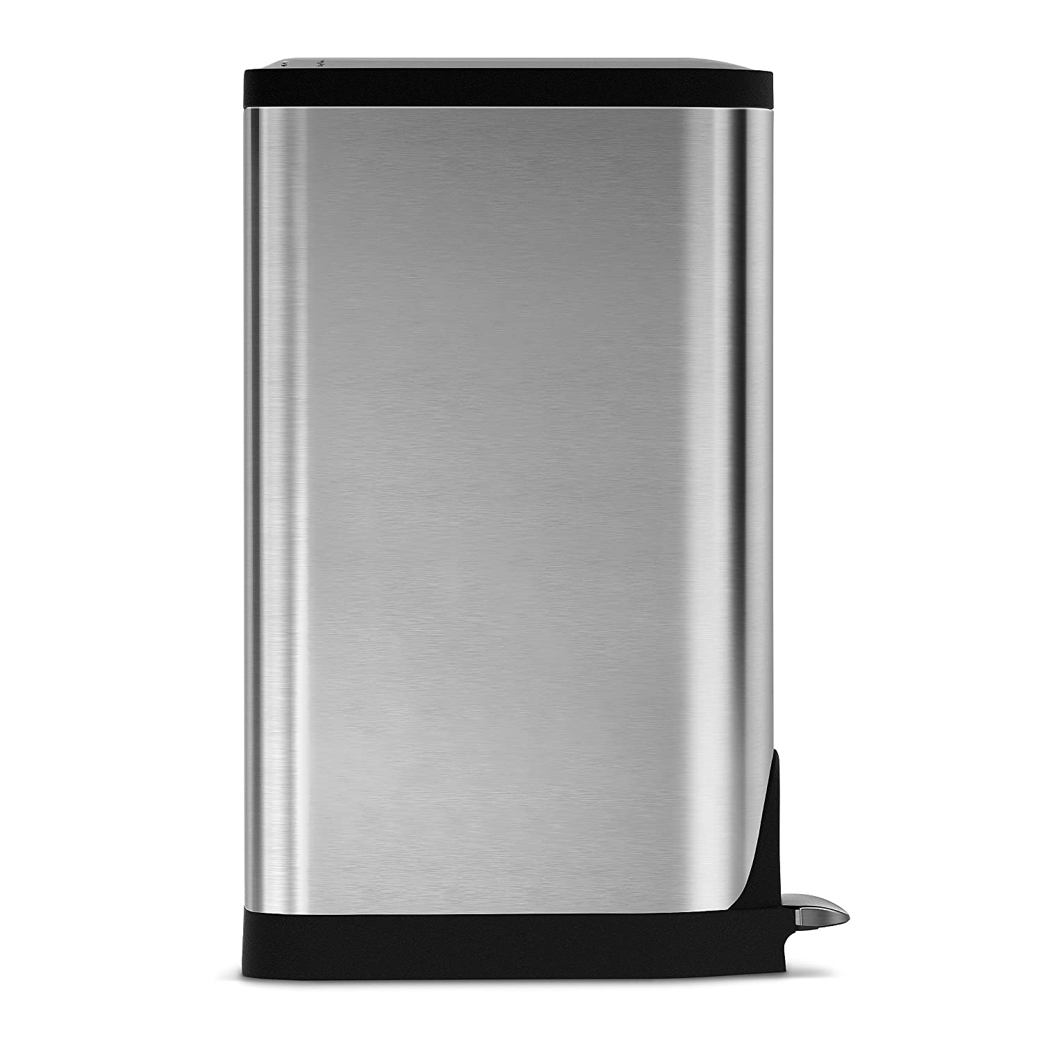simplehuman butterfly step trash can stainless steel