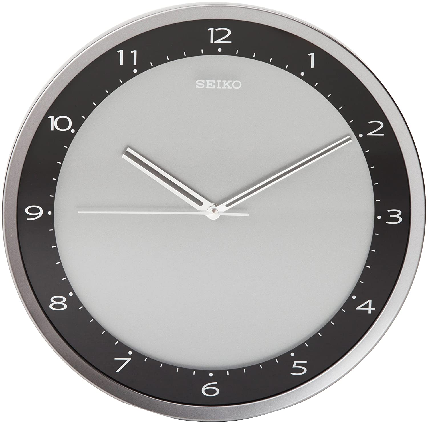 Buy seiko wall clock quiet sweep second hand clock black metallic buy seiko wall clock quiet sweep second hand clock black metallic case online at low prices in india amazon amipublicfo Image collections