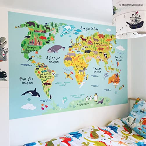 World map wall sticker high quality world map fabric wall sticker world map wall sticker high quality world map fabric wall sticker map wall art gumiabroncs Image collections