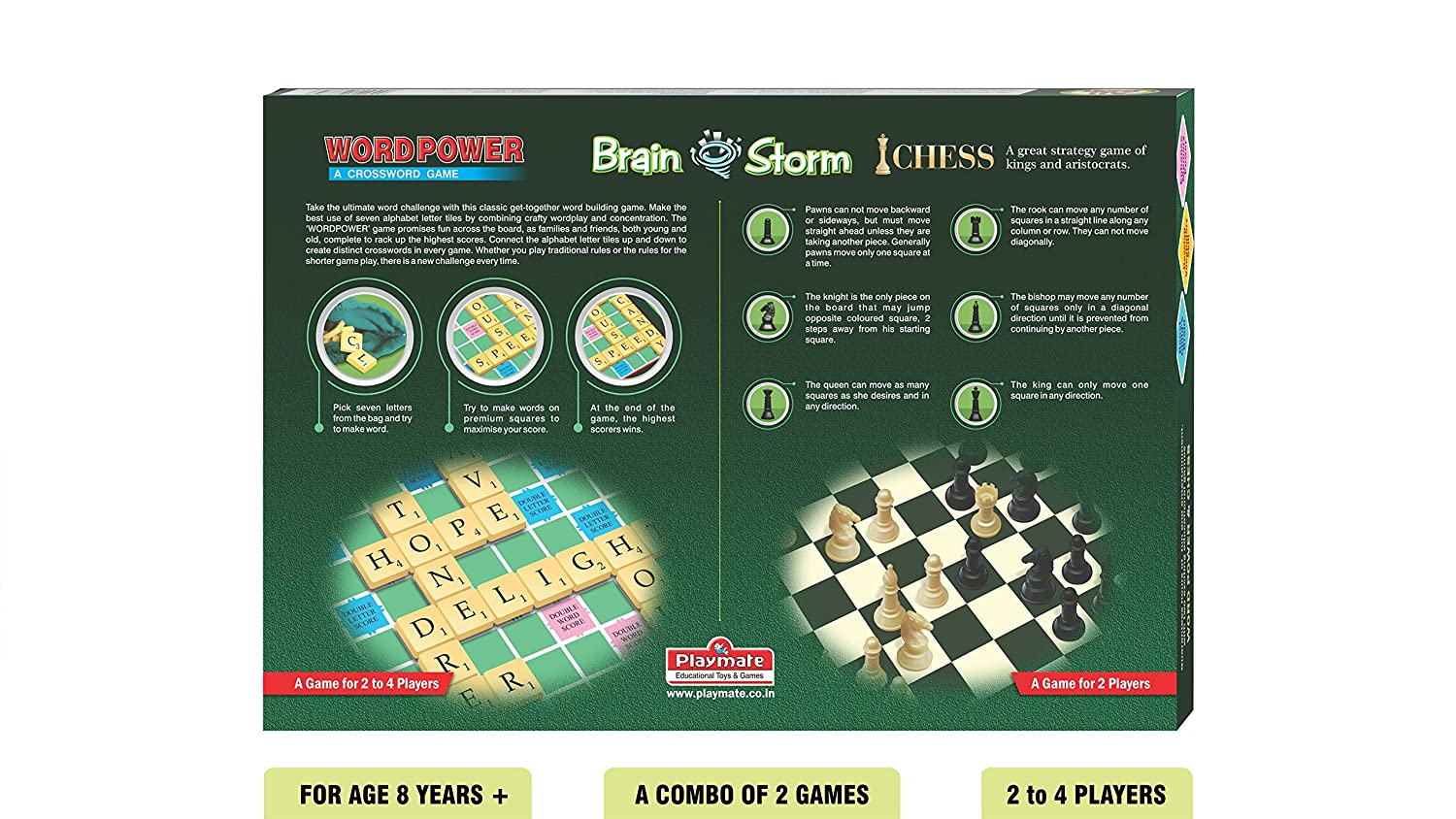 Buy Playmate Brainstorm A Combo Of Wordpower Chess Age 8 Years