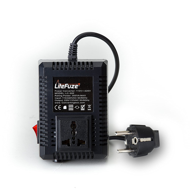 LiteFuze LC-500US 500Watt Step Up//Down Travel Voltage Converter US Cord