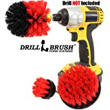 Drill Power Heavy Duty Stiff Bristle Scrub Brush Cleaning Kit