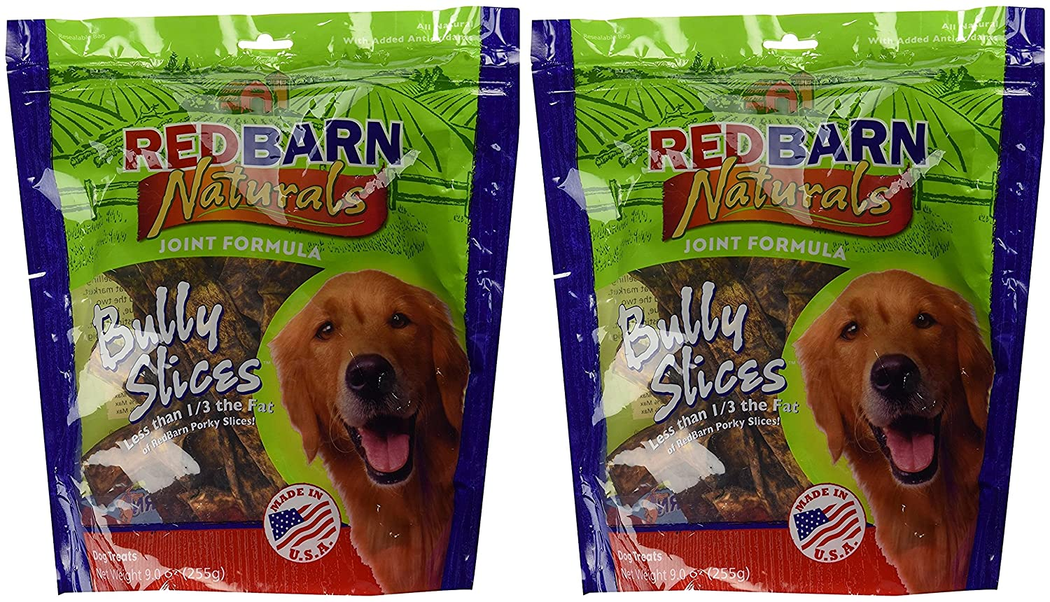 Redbarn Naturals Bully Slices, 9 Ounce Bag, 2 Count