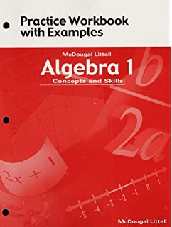 Amazon algebra 1 concepts and skills practice workbook with mcdougal littell algebra 1 concepts and skills practice workbook with examples fandeluxe Gallery