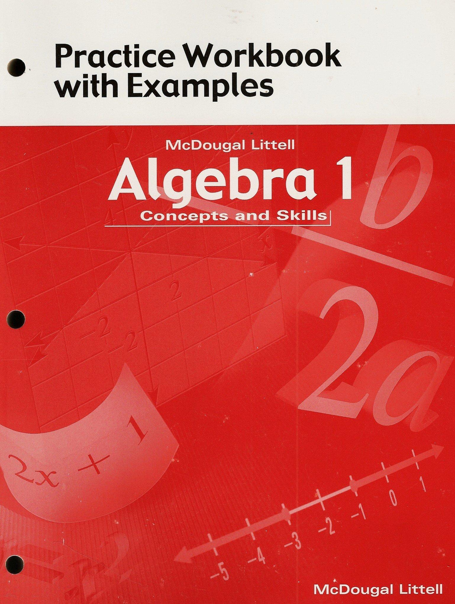 Amazon McDougal Littell Algebra 1 Concepts and Skills – Mcdougal Littell Algebra 1 Worksheet Answers