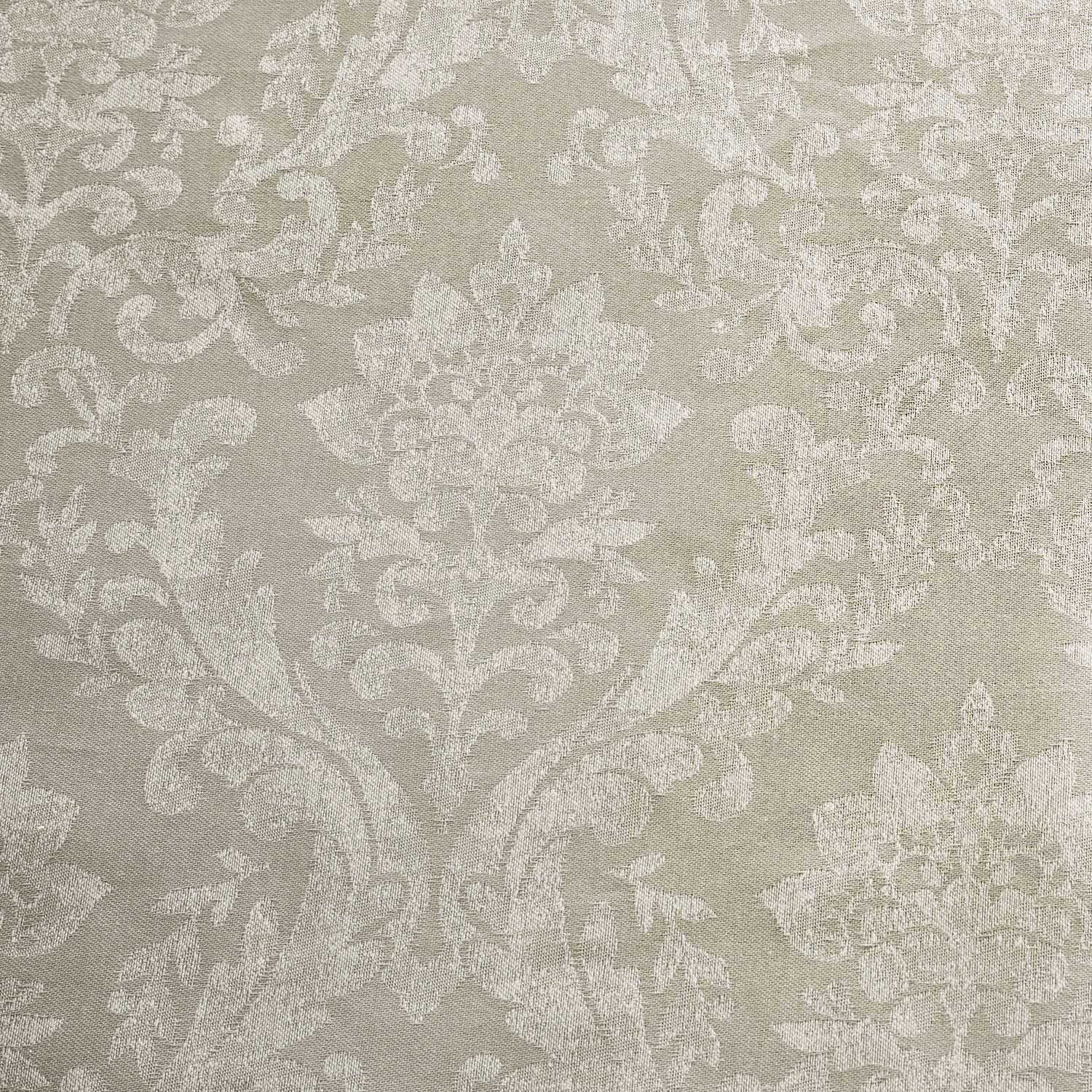 Serene Silver Damask Jacquard Lined Pencil Curtains with Tie-backs 168 x 183cm Laurent 66 Width x 72 Drop