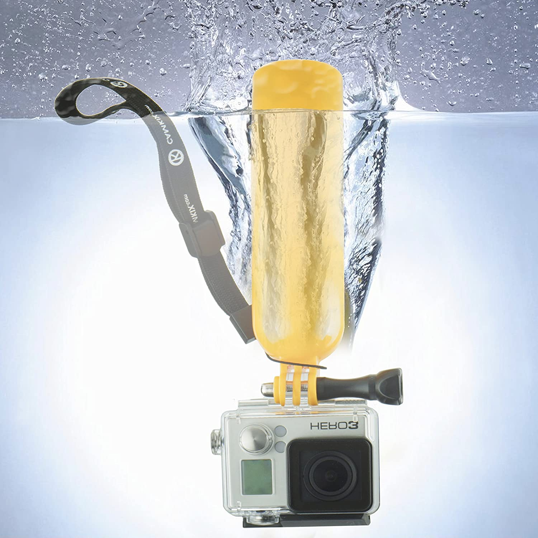 CamKix Paquete de Accesorios para GoPro incluye 1 Flotador plus Tornillo Mariposa / 1 Flotador Extraible para el Hogar con Velcro Impermeable Adhesivo / 1 ...