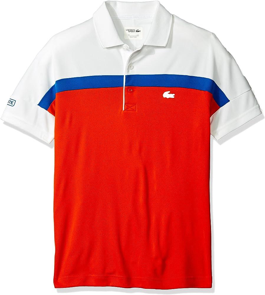 Lacoste para Hombre Sport de Tenis de Manga Corta Color Block ...