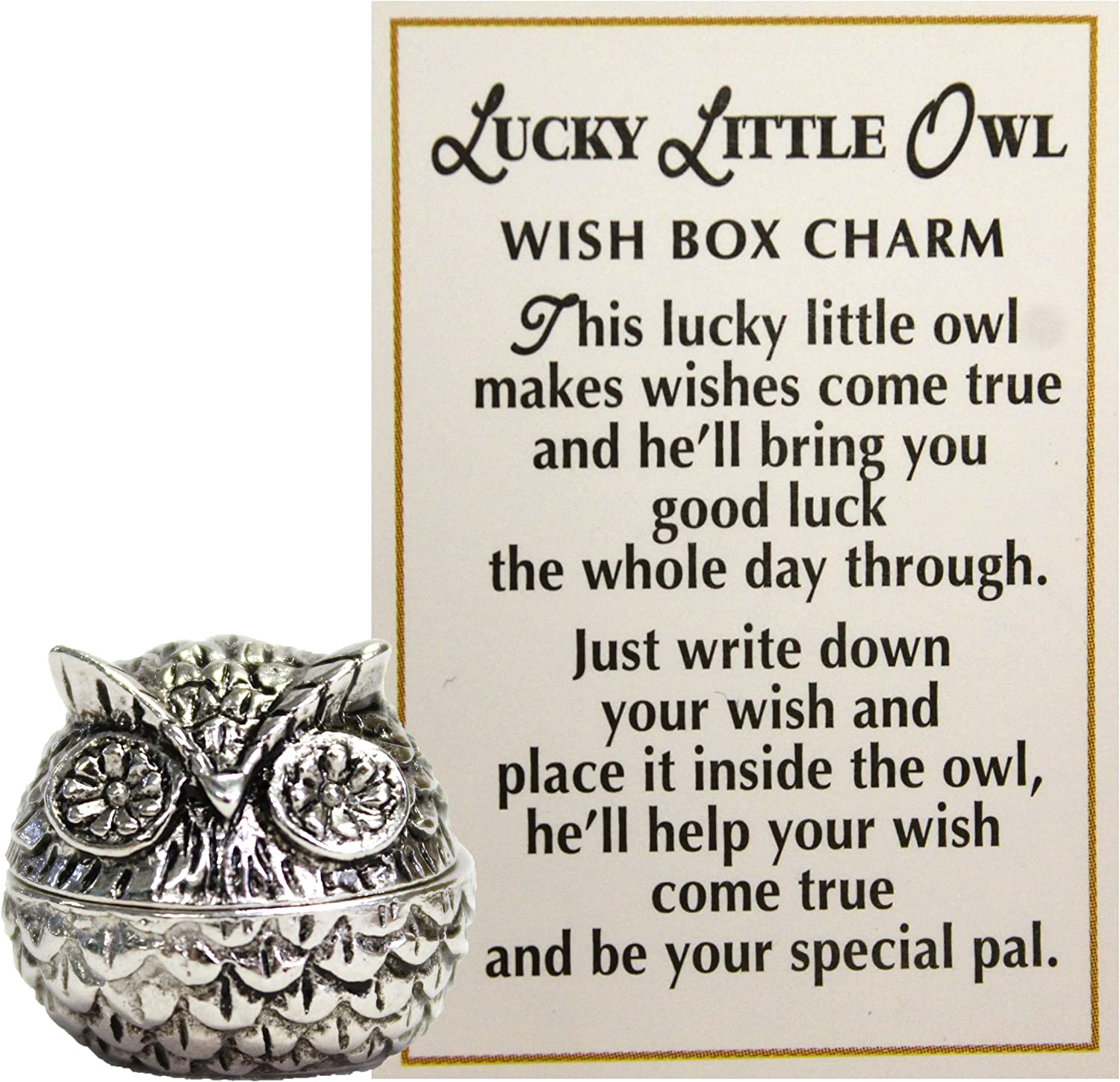 Ganz Lucky Little Owl Wish Box Charm with Story Card!