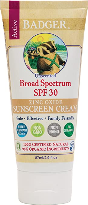 Badger SPF 30 Unscented Sunscreen 2.9 oz