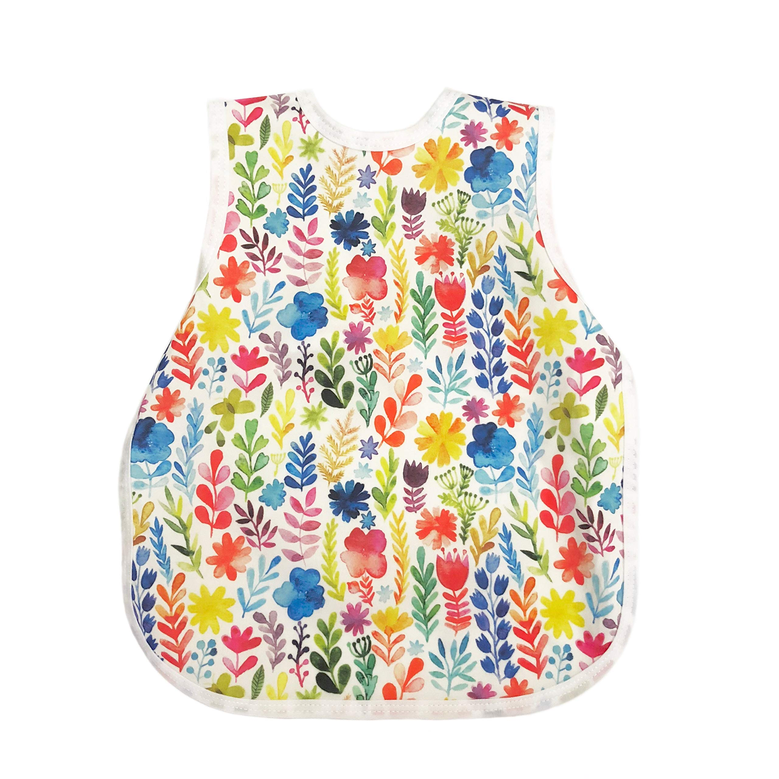 Rainbow Watercolor Floral Bapron by BapronBaby
