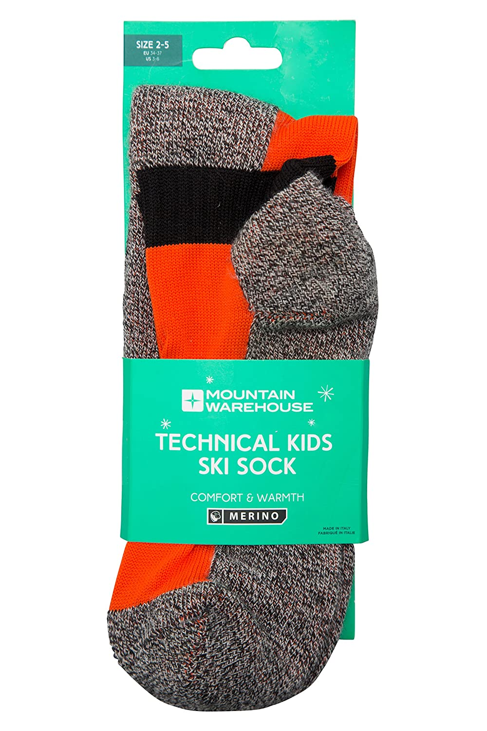 Mountain Warehouse Technical Kids Ski Socks - Quick Drying, Easy Care, High Wicking, Shaped & Cushioned - Ideal For Cold Winter Weather