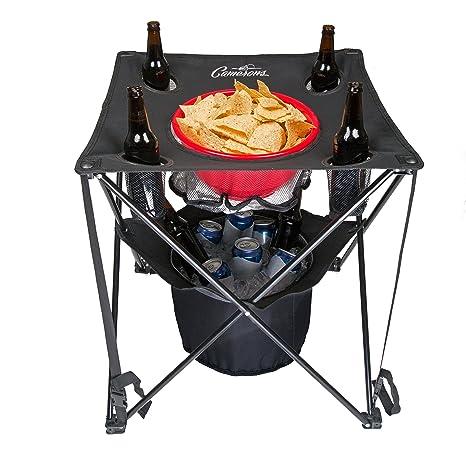 Camerons Chupar rueda mesa plegable Camping mesa plegable con cooler, viajes bolso y cesta de la compra para la barbacoa, portón trasero de picnic: ...
