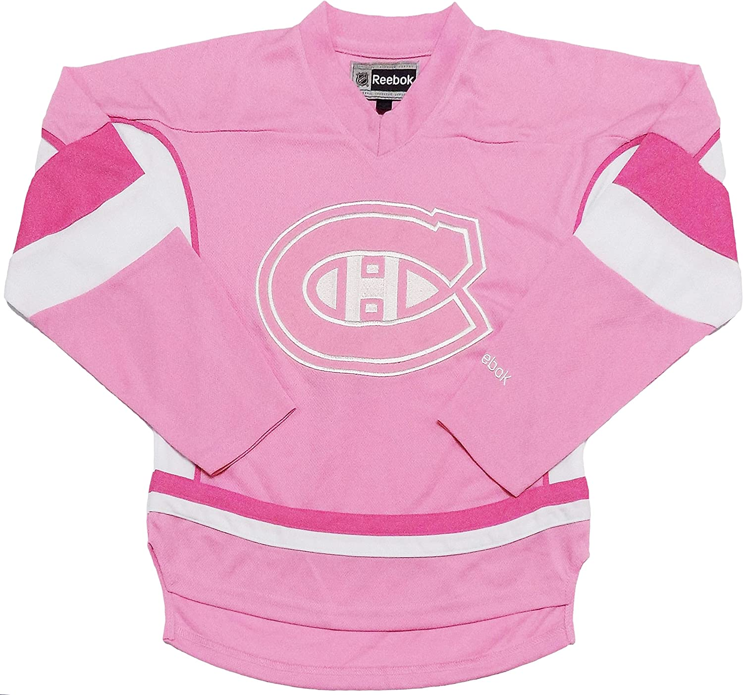 Amazon Com Outerstuff Montreal Canadiens Youth Pink Girls Team Logo Replica Jersey X Large 16 Clothing