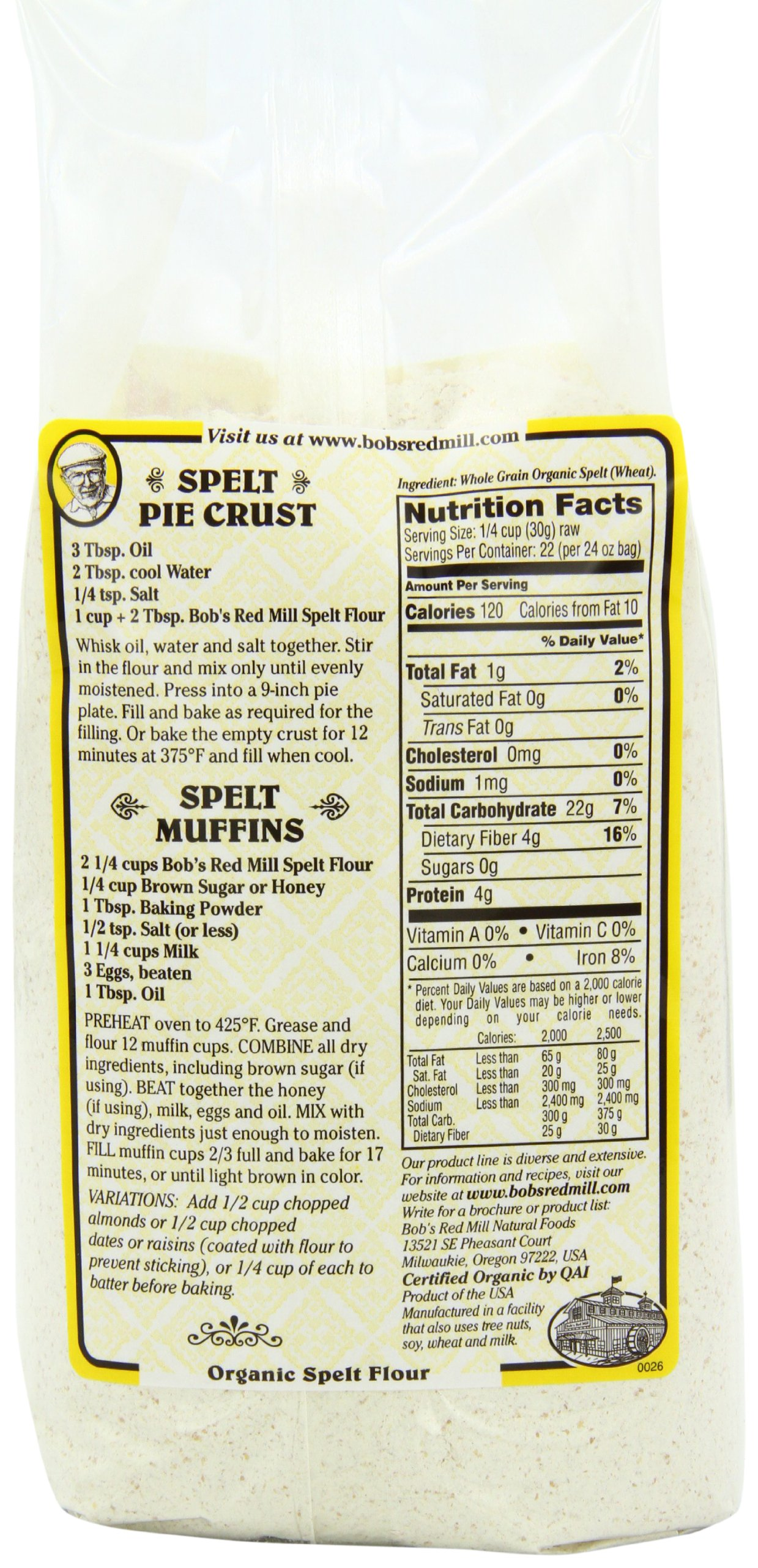 Bob's Red Mill Organic Spelt Flour, 24-ounce (Pack of 4) by Bob's Red Mill (Image #10)