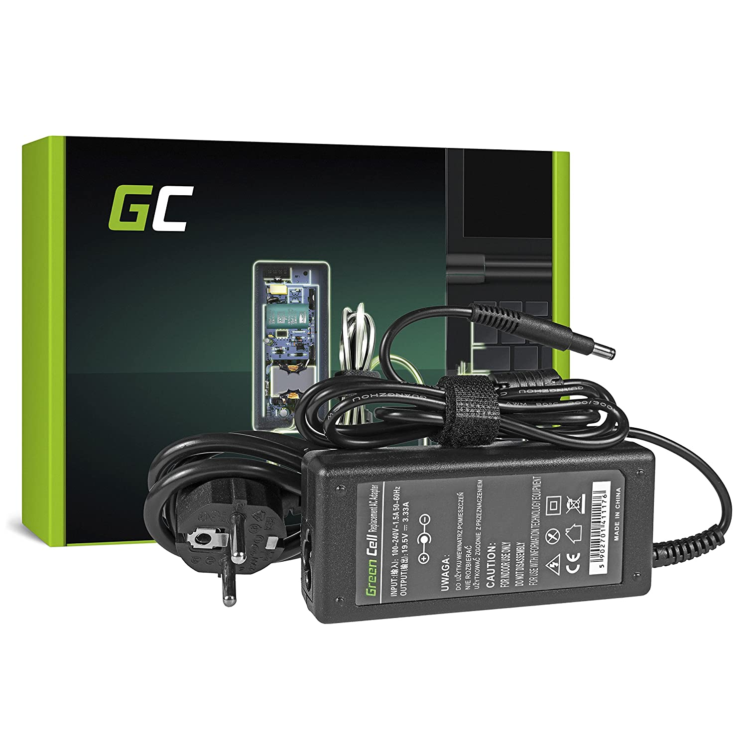 Green Cell 19.5V 3.33A 65W Cargador HP PPP009C PPP009D ADP-65HB FC 574638-001 576129-001 613149-001 613149-003 677770-001 677770-002 677770-003 ...