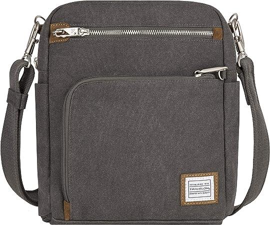 Travelon Anti-Theft Heritage Tour Bag, Pewter - 33074 540