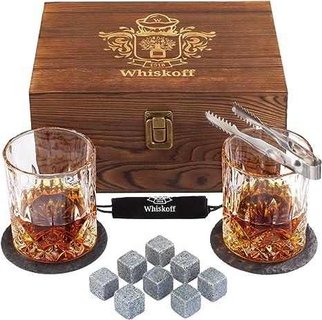 Whiskey Rocks and Glasses Set