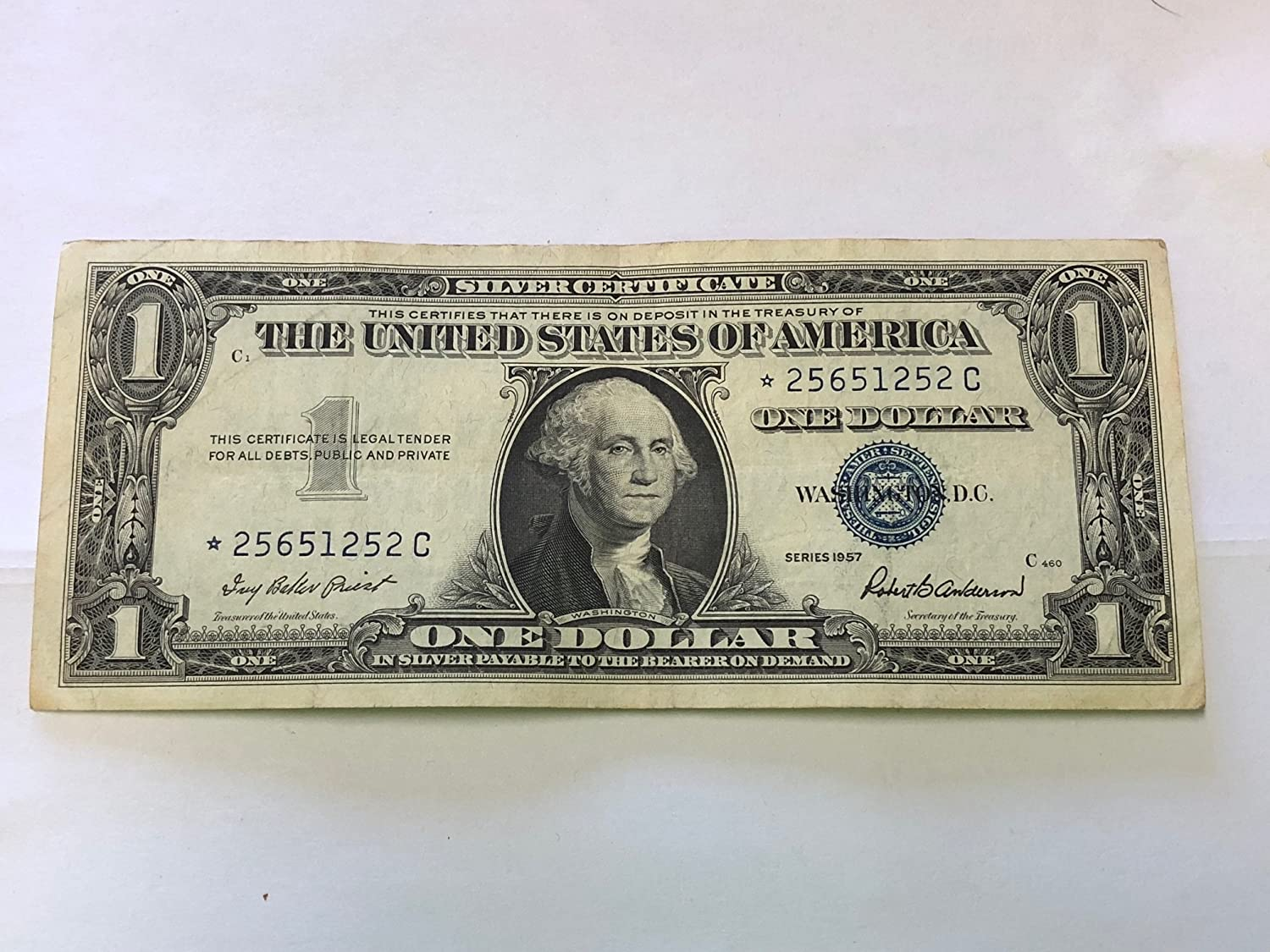 1957 Mixed Star Note Silver Certificate 1 Us Mint Circulated At