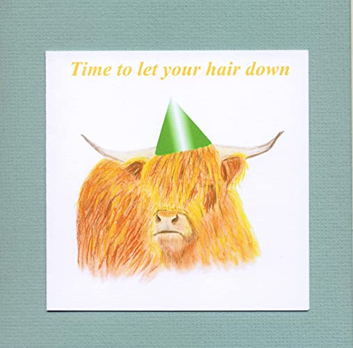 Highland Cow Birthday Card Amazon Handmade