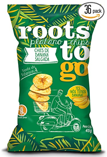 ROOTS TO GO - SALT BANANA - Banana, Palm Oil and Salt, 1.58 Ounce
