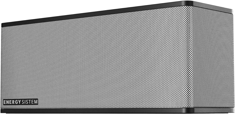 Energy Sistem Music Box 7+ Altavoz portátil con Bluetooth (20 W, Manos Libres, Entrada de Audio y batería Recargable) - Plata