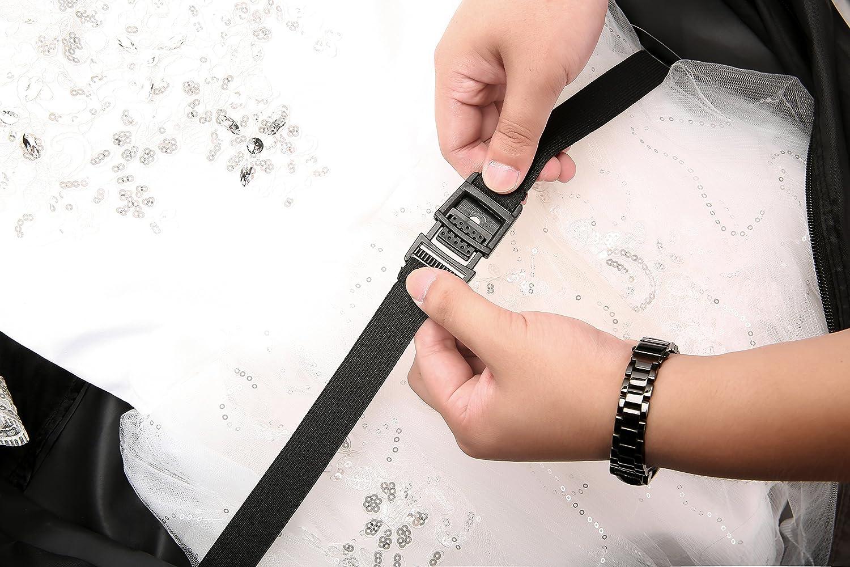 66 Versatile Travel Wedding Dress Garment Bag Tri-Fold Gown Length w//Hanging Hook Extra Pocket by Magictodoor