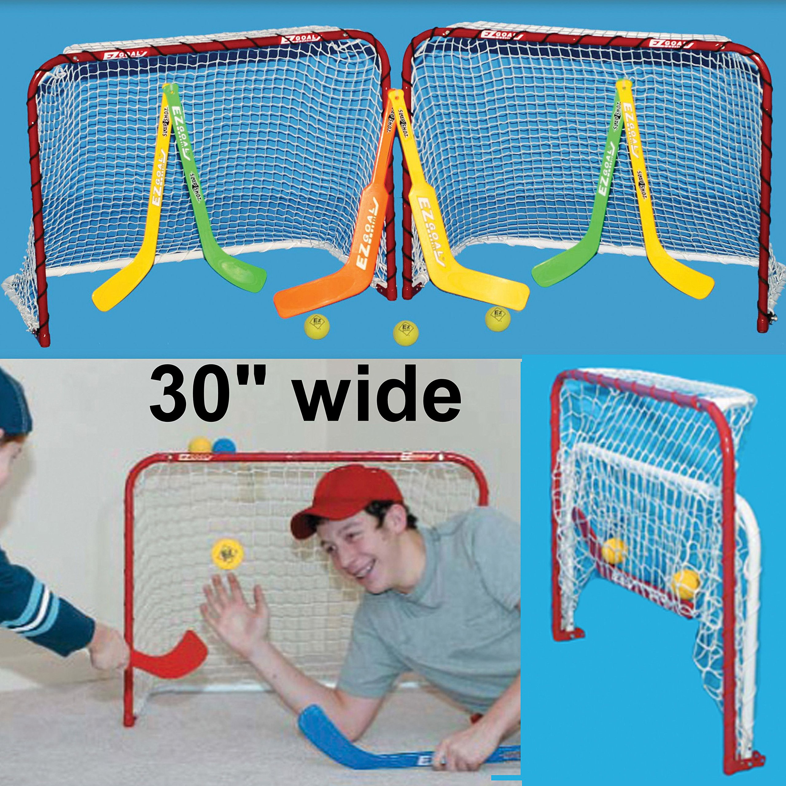 EZGoal Double Mini Folding Goal, Red/White by EZGoal (Image #1)