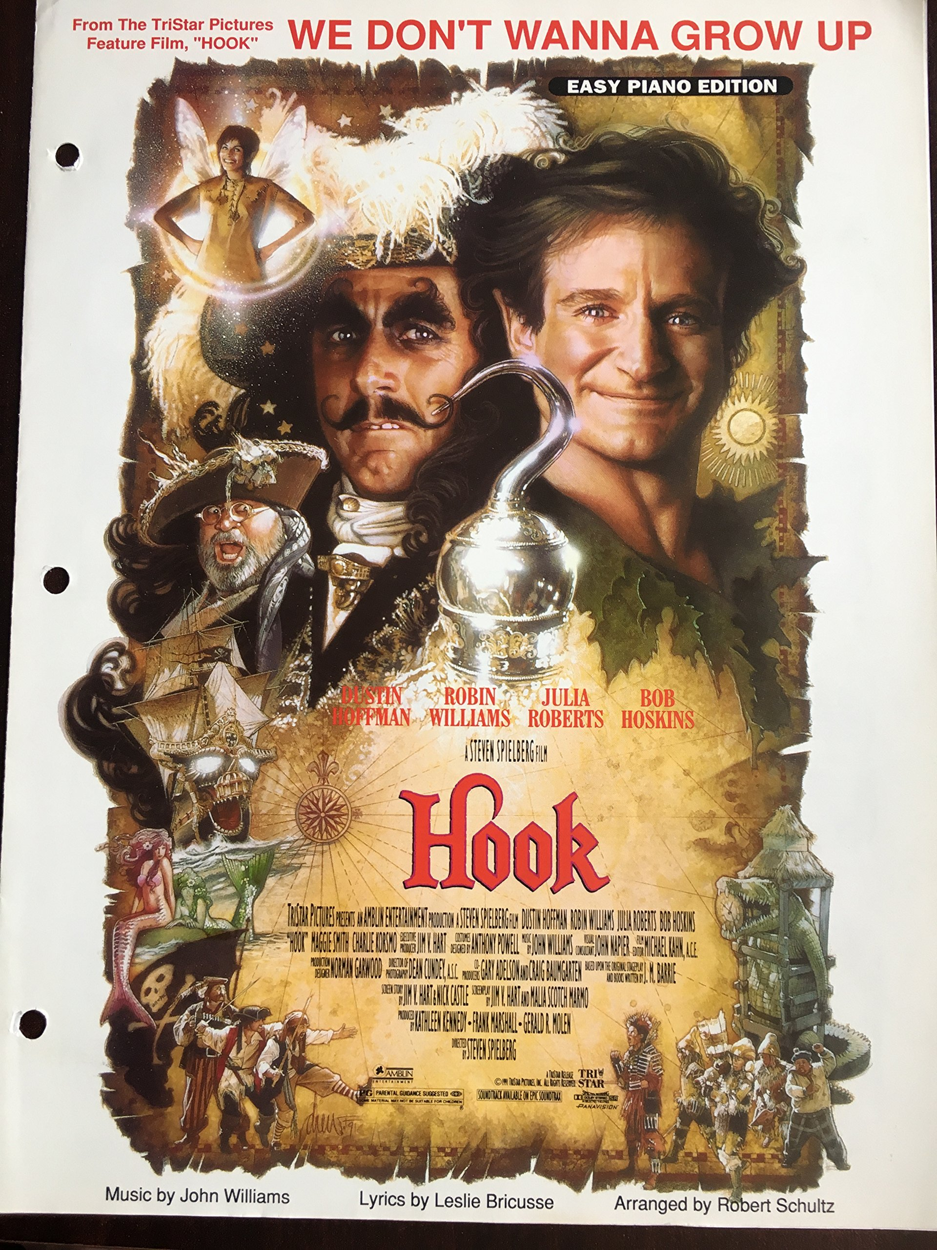 we dont wanna grow up from the tristar film hook easy piano edition arranged by robert schultz