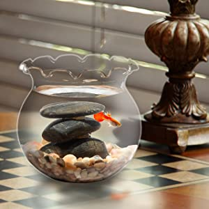 Koller Products 1 Gallon Fish Bowl - Impact-Resistant Plastic