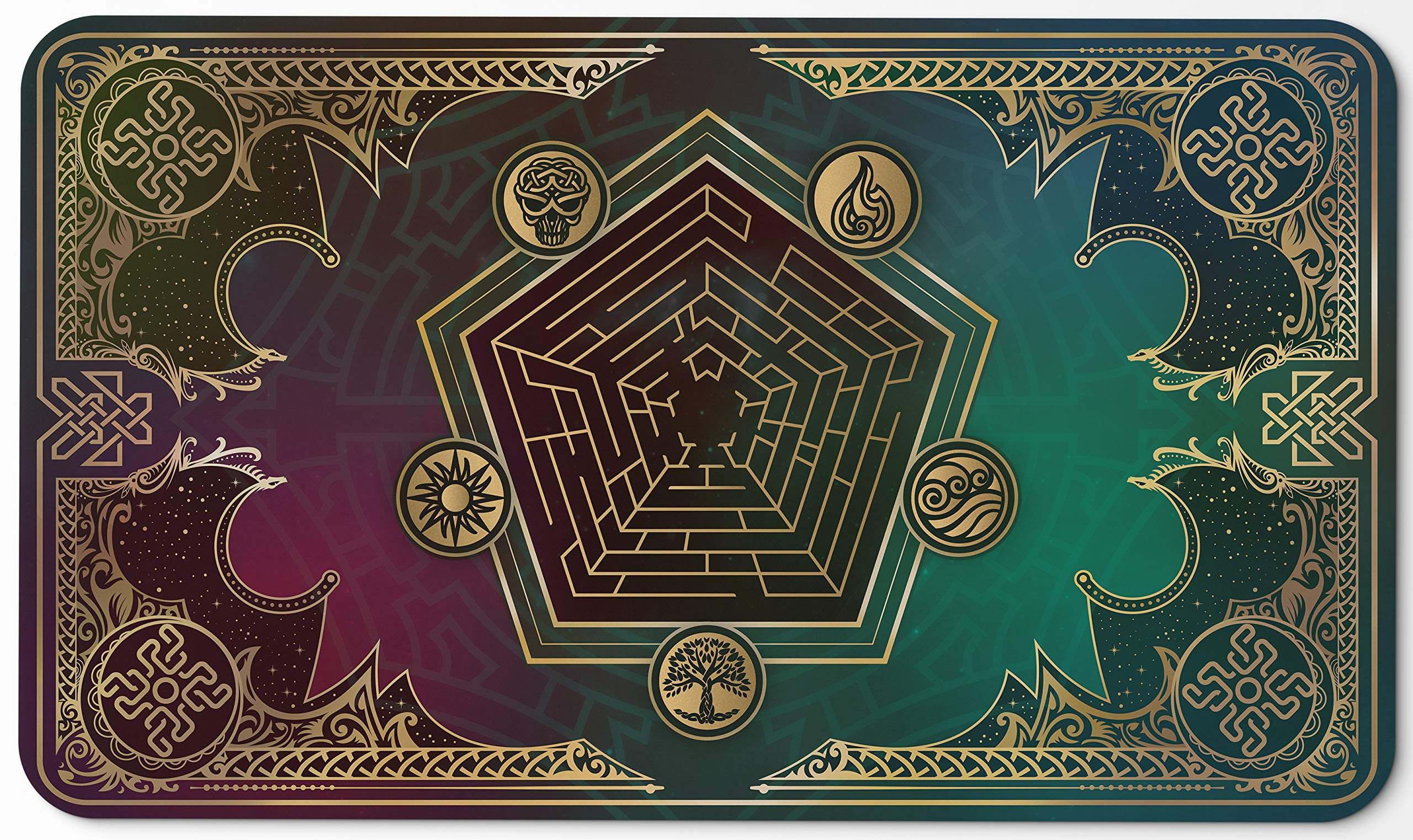 Paramint Mana Blast | MTG Playmat | Perfect for Magic The Gathering, Pokemon, YuGiOh, Anime | TCG Card Game Table Mat | Durable, Thick, Cloth Fabric Top with Rubber Bottom by Daniel Ziegler by Paramint (Image #5)