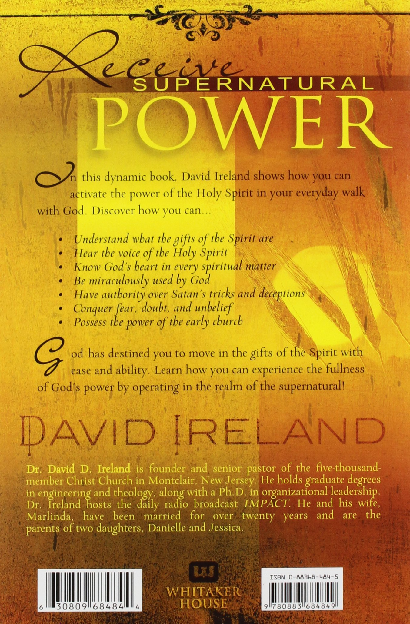 Activating the gifts of the holy spirit david d ireland activating the gifts of the holy spirit david d ireland 9780883684849 amazon books negle Image collections