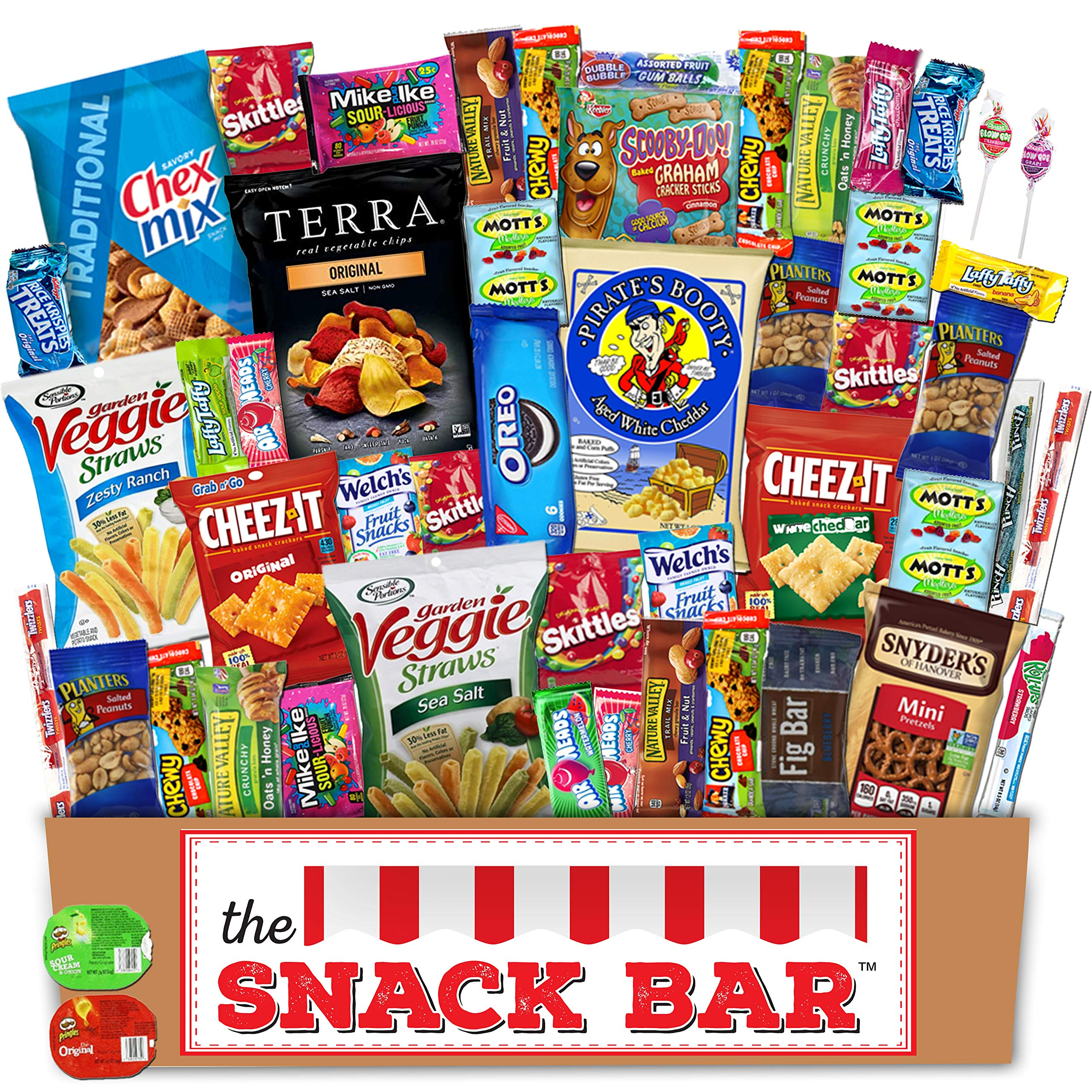 •Ultimate Snacks Care Package Bulk Variety Pack Bundle Sampler 50 Count Over 3 lbs. of Cookie, Chips and Candy (50)