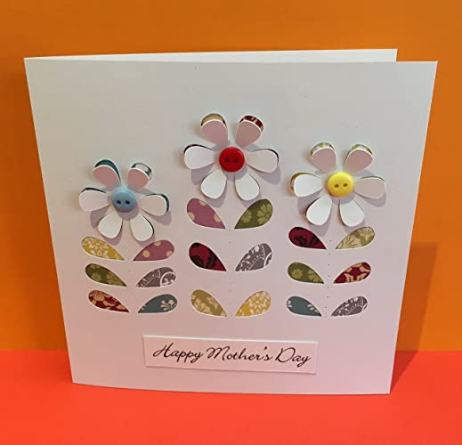 mothers day card birthday card thank you card choose your message flower
