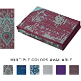 "Gaiam Yoga Mat Folding Travel Fitness & Exercise Mat | Foldable Yoga Mat for All Types of Yoga, Pilates & Floor Workouts | Folds to 12"" x 10"" Square (68"" L x 24"" W x 2mm Thick)"